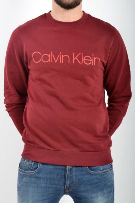 Calvin klein cotton logo sweatshirt red