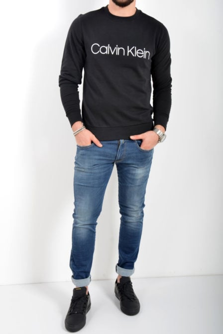Calvin klein cotton logo sweatshirt perfect black