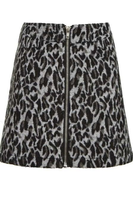 Circle of trust feline skirt dark grey melange
