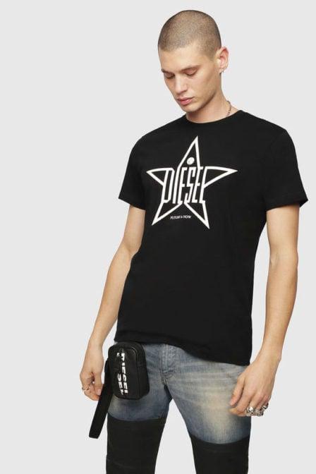 Diesel t-diego-yh t-shirt zwart