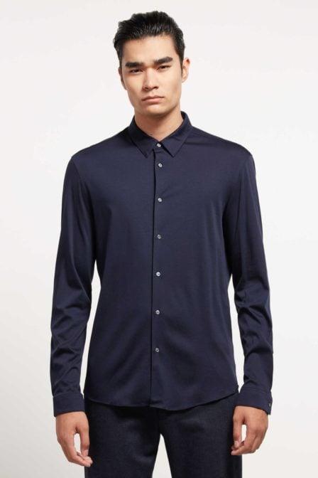 Drykorn ruben overhemd donkerblauw