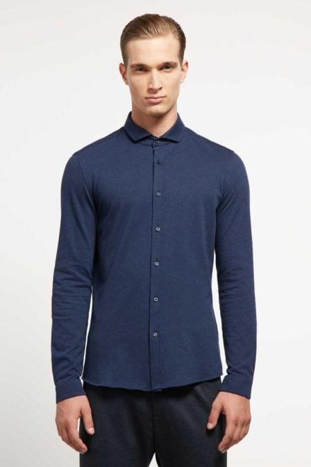 Drykorn solo overhemd blauw
