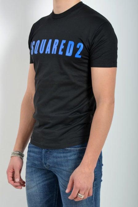 Dsquared t-shirt zwart met blauw logo