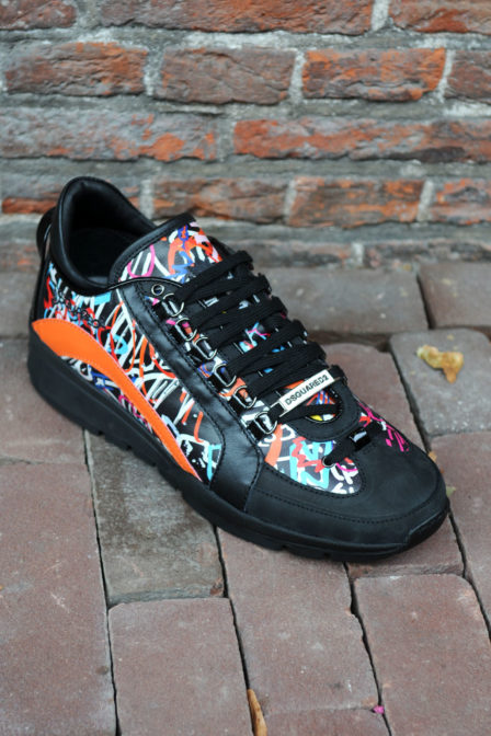 Dsquared vitello slampa tag wall runner multi