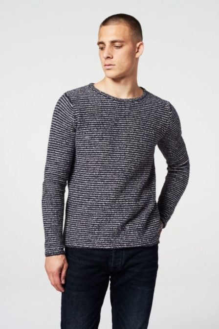 Dstrezzed round neck marine knit cotton nylon