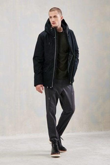 Elvine cornell coat dark navy