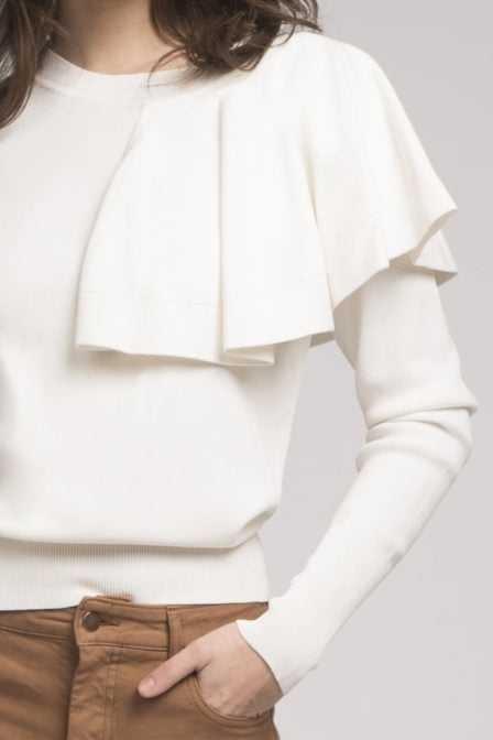 Fifth house jade top off white