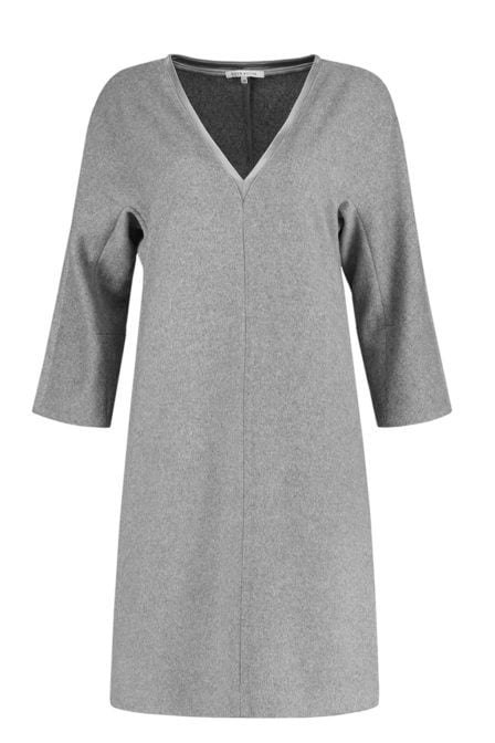 Fifth house lulu dress light grey melange