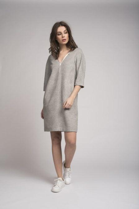 Fifth house lulu dress light grey melange