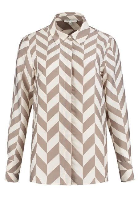 Fifth house reece blouse diamond beige
