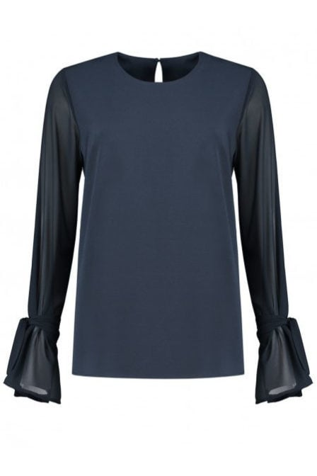 Fifth house rima top donker blauw