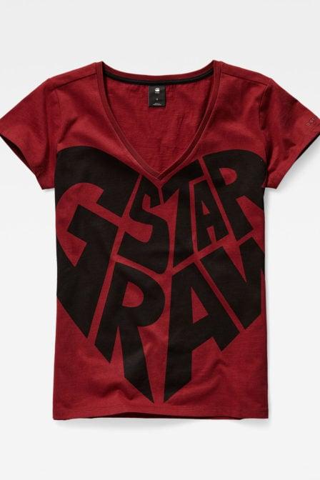 G-star graphic 50 shirt rood