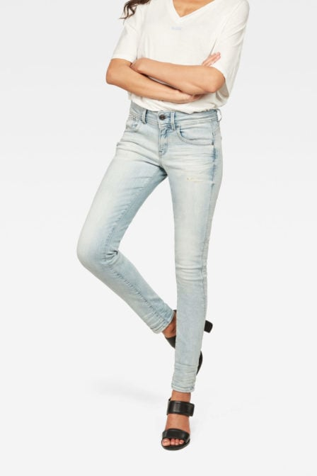G-star lynn mid skinny new lt jeans blauw