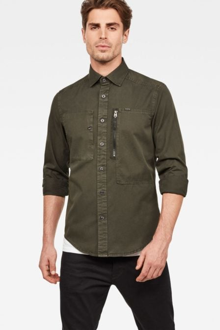 G-star raw powel slim shirt asfalt