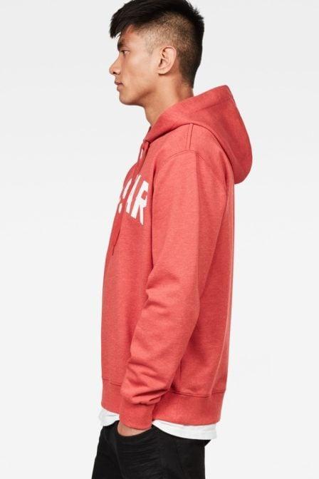 G-star halgen core hooded sweater red