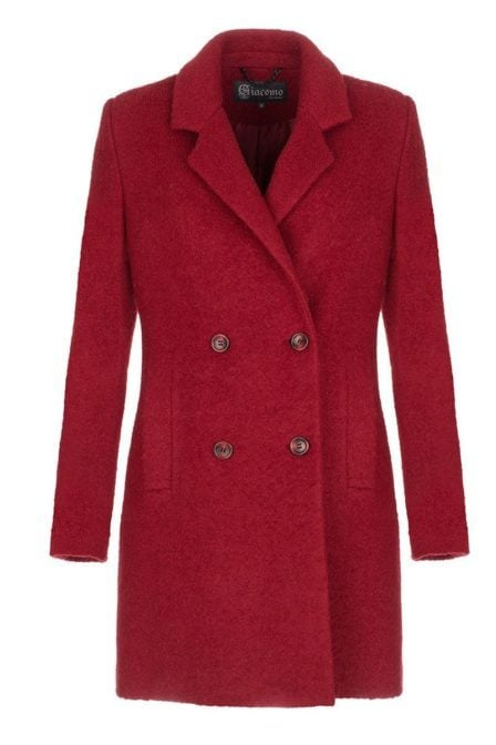 Giacomo coat scarlet red