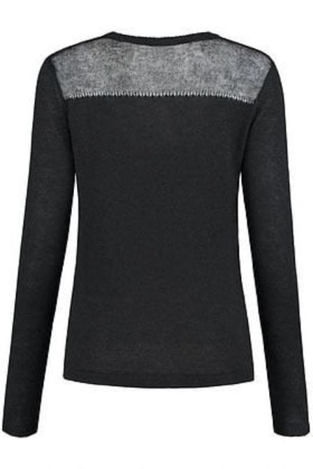Jade twelve fancy v-knit caviar