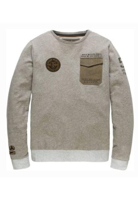 Just brands long sleeve r-neck light terry grey melange