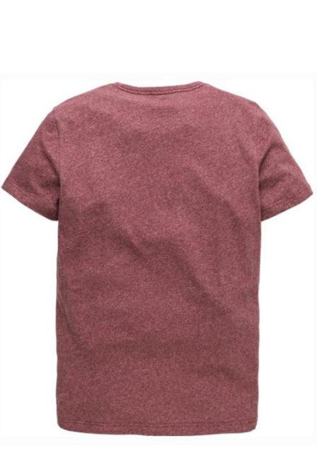 Just brands short sleeve r-neck moulinee jerse-tibetan red