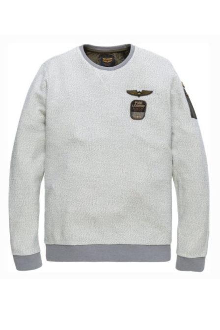Just brands long sleeve r-neck wayne 2-tone tow-bone wit
