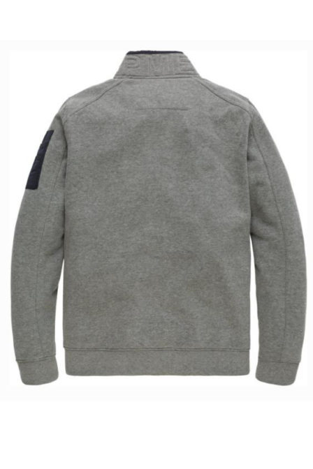 Just brands zip jacket brushed falcon-mid grey melee