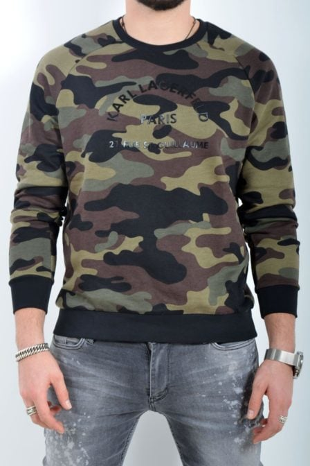 Karl lagerfeld sweater roundneck camo