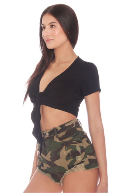 La sisters camouflage high waisted short