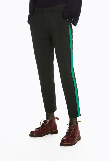 Maison scotch tailored stretch pants with a contrast side panel
