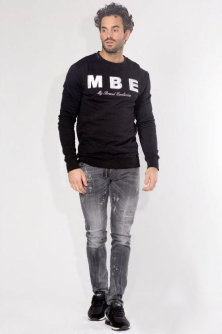 My brand mbe logo sweater zwart