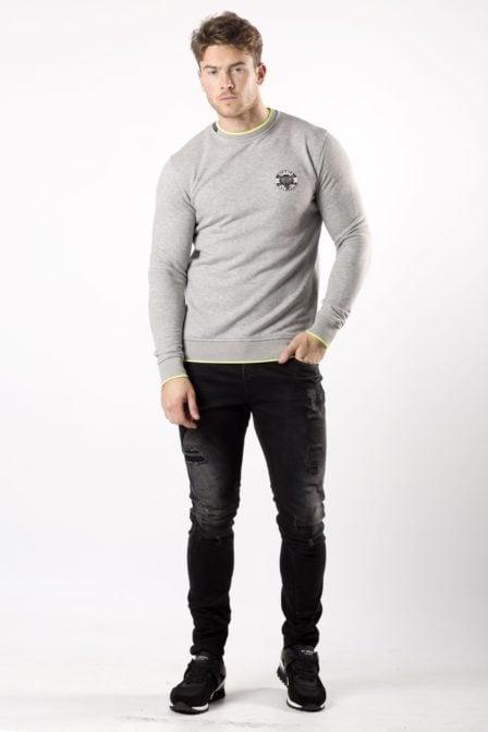 My brand snake13 logo sweater grey