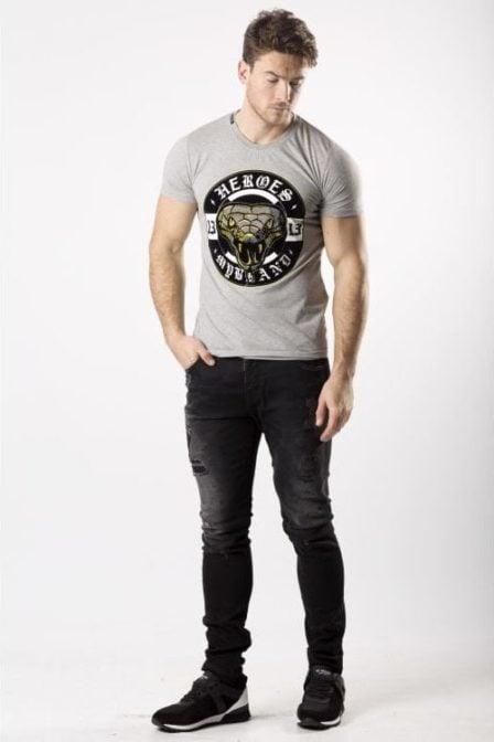 My brand snake13 logo t-shirt grey