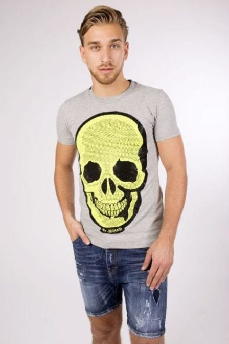 My brand neon skull t-shirt grey