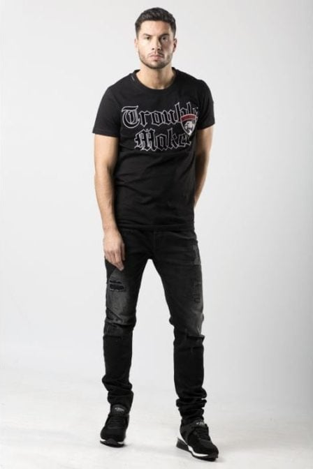My brand trouble panther badge t-shirt black