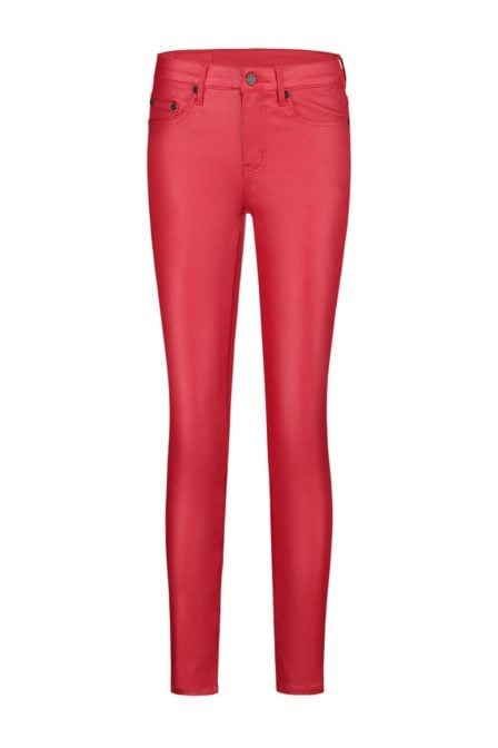 Nikkie betty coated skinny jeans rood