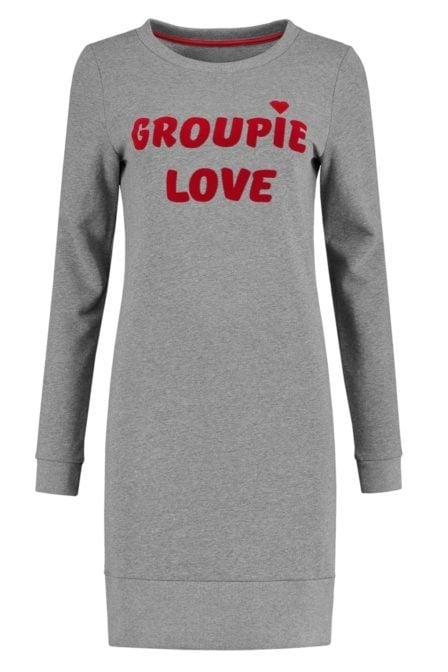 Nikkie groupie love sweatdress melange grey