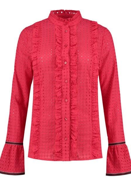 Nikkie lyn blouse racing red