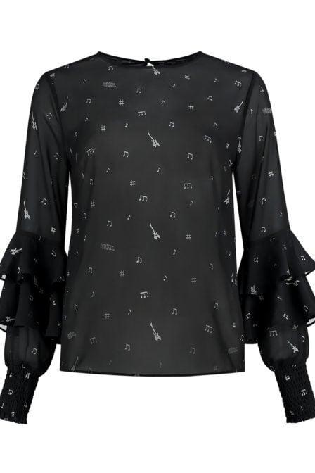 Nikkie rianna blouse zwart