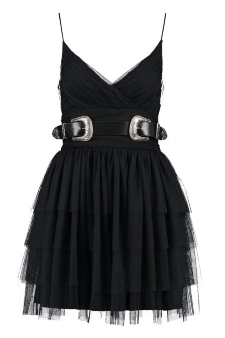 Nikkie selia belt jurk zwart