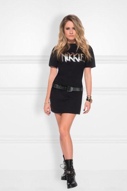 Nikkie t-shirt jurk zwart