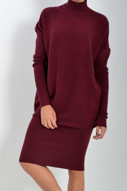 Debby dress turtleneck b.bordeaux 182