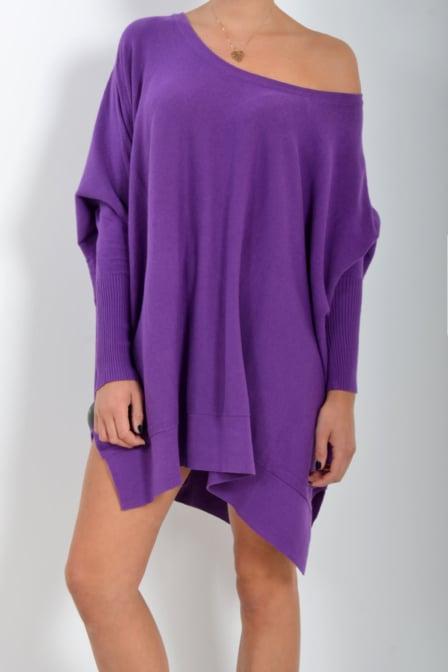 Reinders loesje knitwear short amaranth purple