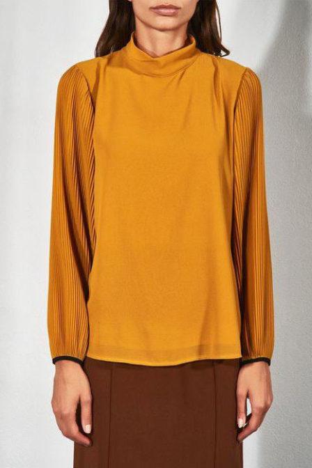 Rinascimento blouse yellow mustard