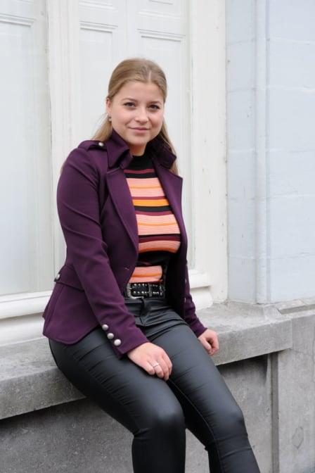 Rinascimento jacket violet
