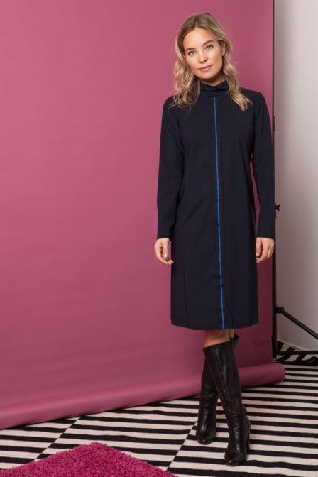 Studio anneloes col dress dark blue