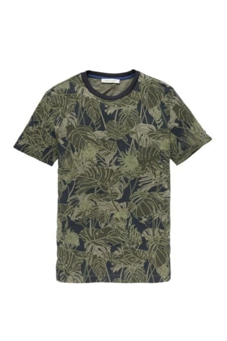 Cast iron t-shirt all over monstera leaf print