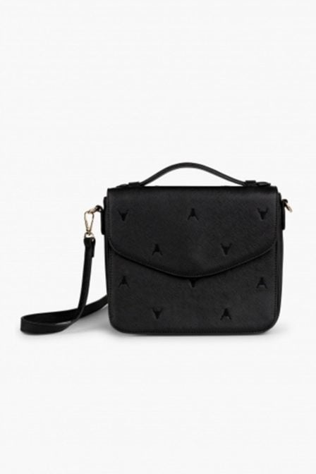 Alix fake leather bag small black