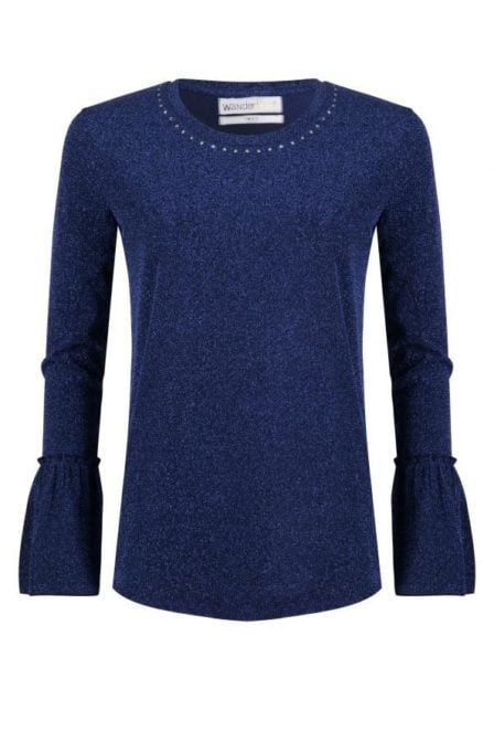 Wanderlust carter ls top blue glitter