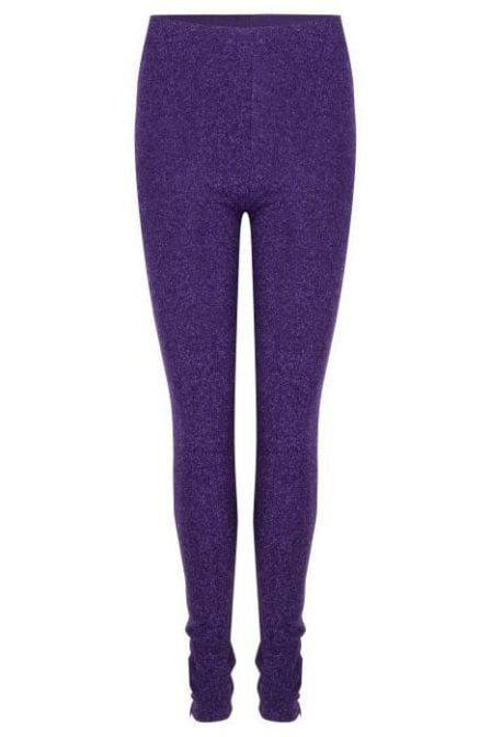 Wanderlust glitter legging purple