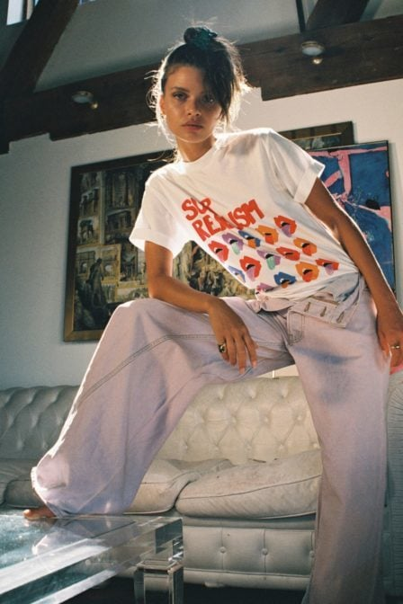 Yeez louise surrealism tee white
