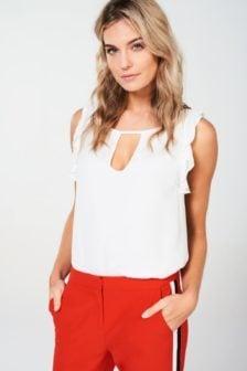 Aaiko gilli vis blouse crispy white